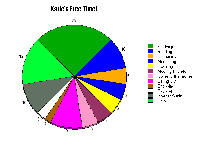 Free Time Chart   Free Time Creating A Pie Chart In English English With Katie